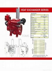 Heat Exchanger  Series Diesel Engine for Fire Pump Station