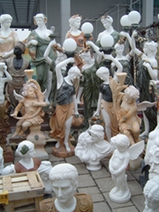 西方人物拼色雕刻工藝品