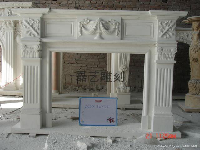 壁爐、石雕工藝品、雕塑 1