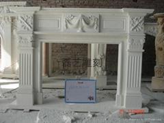 壁炉、石雕工艺品、雕塑