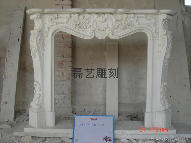 壁爐、石雕工藝品、雕塑 5