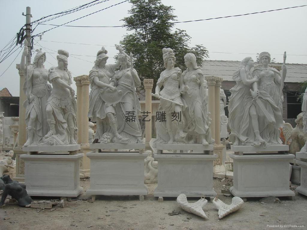 純漢白玉雕刻大衛西方人物雕刻工藝品 2