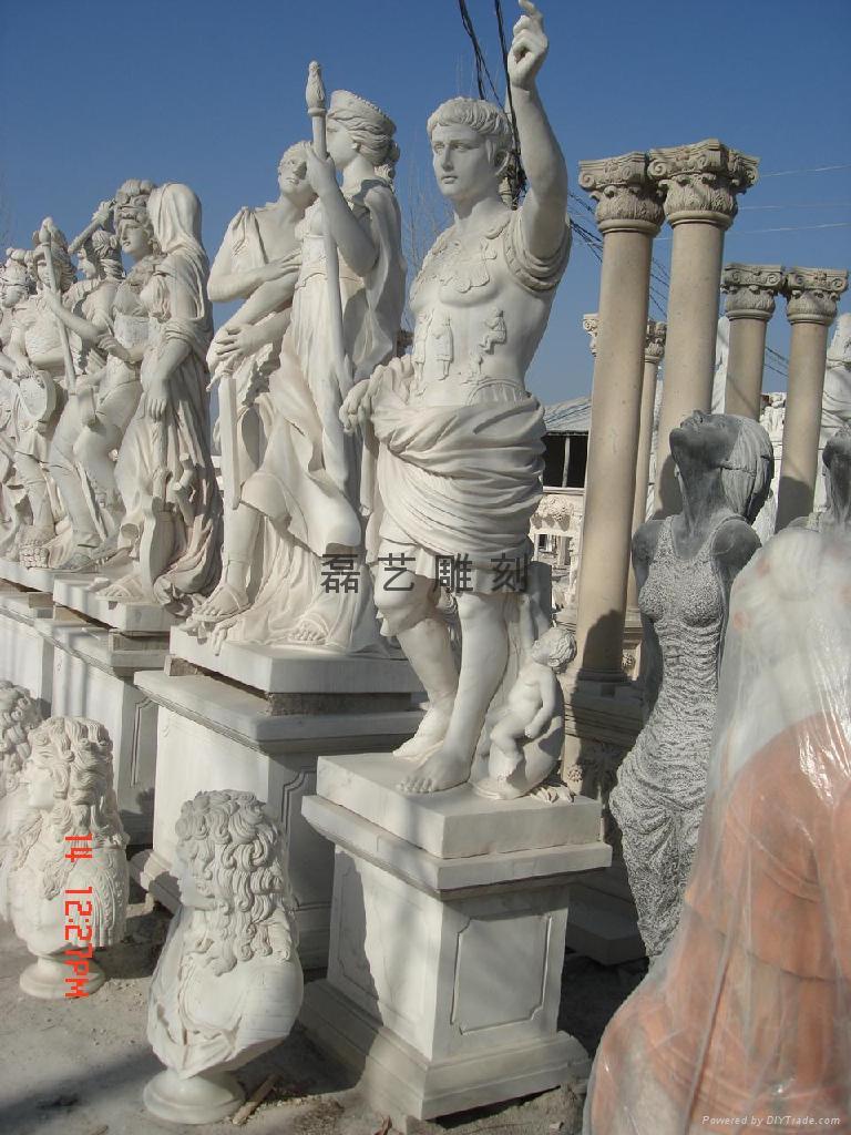 純漢白玉雕刻大衛西方人物雕刻工藝品 5
