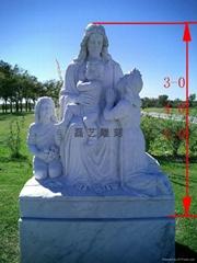 教堂圣母玛利亚汉白玉雕刻