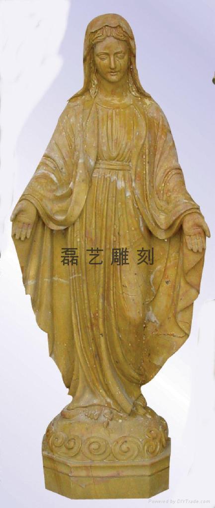 教堂圣母玛利亚汉白玉雕刻 2