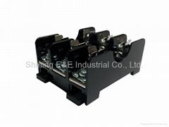 FS-013B DIN Rail Mounted 600V 10A 6x30 Glass Ferrule Fuse Base