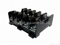 FS-015B DIN Rail Mounted 600V 10A 6x30 Glass Ferrule Fuse Base