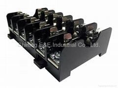 FS-016B DIN Rail Mounted 600V 10A 6x30 Glass Ferrule Fuse Base