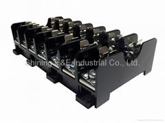 FS-017B DIN Rail Mounted 600V 10A 6x30 Glass Ferrule Fuse Base