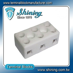TC-203-A 3 Pole 600V 20A Heat Resistant Ceramic Terminal Block