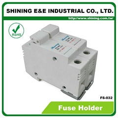 FS-032 600V 32A 2 Pole DIN Rail Mounted Cylindrical Fuse Carrier