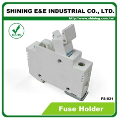 FS-031 600V 32A 1 Pole DIN Rail Mounted Cylindrical Fuse Carrier