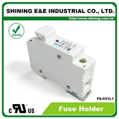 FS-031L1 110V 32A 1-Pole DIN Rail Mounted Cylindrical Fuse Switch