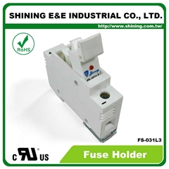 FS-031L3 600V 32A 1-Way DIN Rail Mounted Cylindrical Fuse Holder