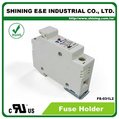 FS-031L2 380V 32A 1 Way DIN Rail Mounted Cylindrical Fuse Base
