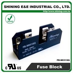 FB-M031SQ 600V 30Amp 1-Way UL 10x38 Ceramic Midget Fuse Block