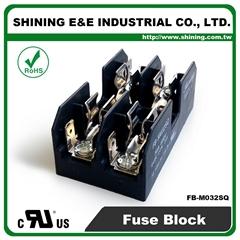 FB-M032SQ 600V 30Amp 2-Way UL 10x38 Ceramic Midget Fuse Block