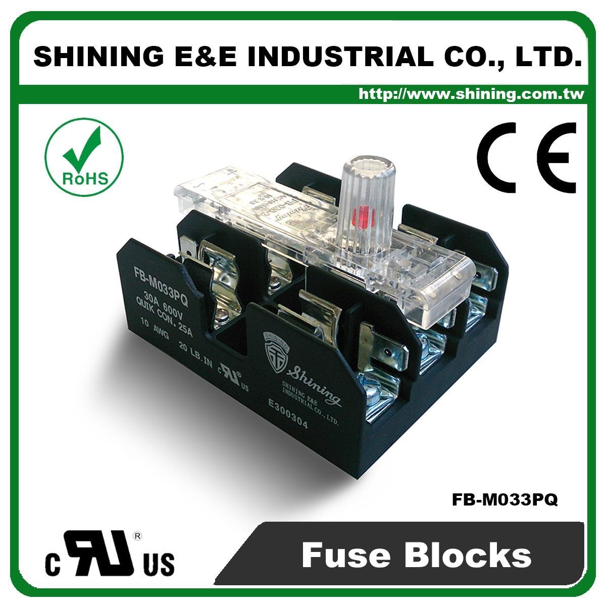 Fb M033pq 600v 30amp 3 Way Ul 10x38 Ceramic Midget Fuse