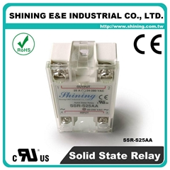 SSR-S25AA Single Phase 25Amp AC to AC Solid State Relays ( SSR )