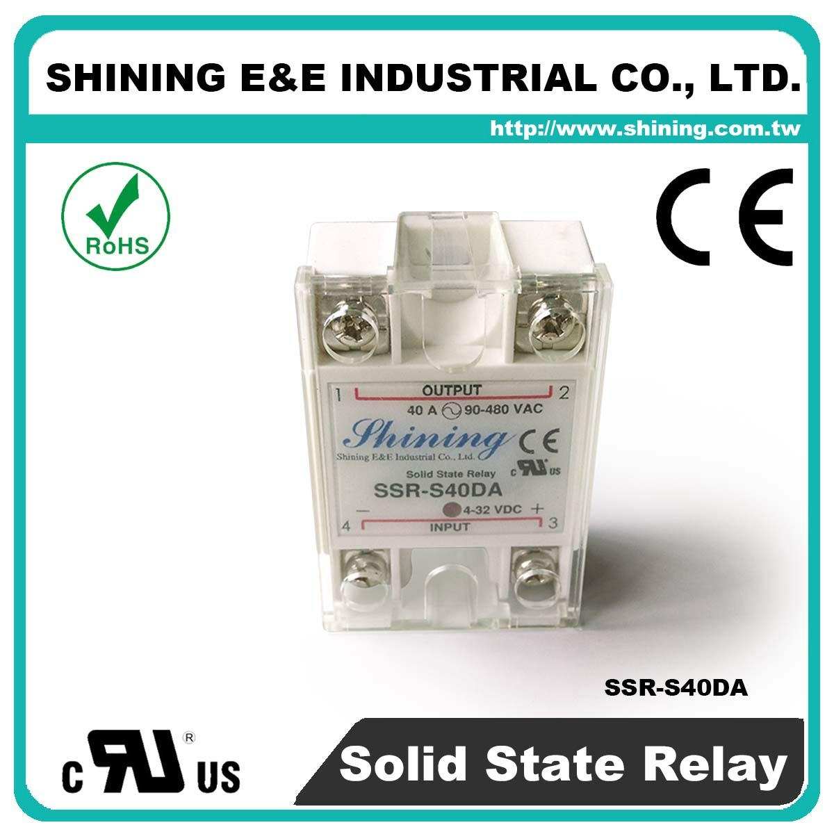 Ssr S40da Single Phase 40a Dc To Ac Solid State Relays Relay 240v 1
