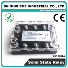SSR-T25DA DC to AC Zero Cross Three Phase 25A Solid State Relays