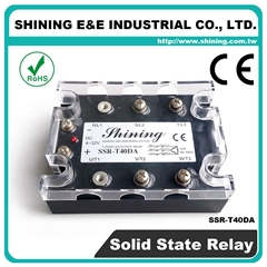 SSR-T40DA DC to AC Zero Cross Three Phase 40A Solid State Relays