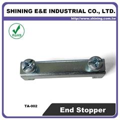 TA-002 35mm Hat-Shaped DIN Rail Mounted Steel End Clamp Bracket