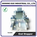 TA-002H Hat-Shaped 35mm DIN Rail Mounted Steel End Stop 3