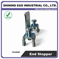 TA-002H Hat-Shaped 35mm DIN Rail Mounted Steel End Stop 6