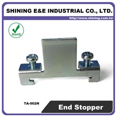 TA-002H Hat-Shaped 35mm DIN Rail Mounted Steel End Stop