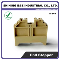 TF-ECH Hat-Shaped 35mm DIN Rail Mounted Nylon Mounting Clip