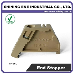 TF-ECL Hat-Shaped 35mm DIN Rail Mounted Nylon End Clamp
