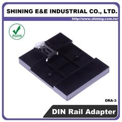 DRA-3 ABS UL 94HB Fuse Block DIN Rail Adapter