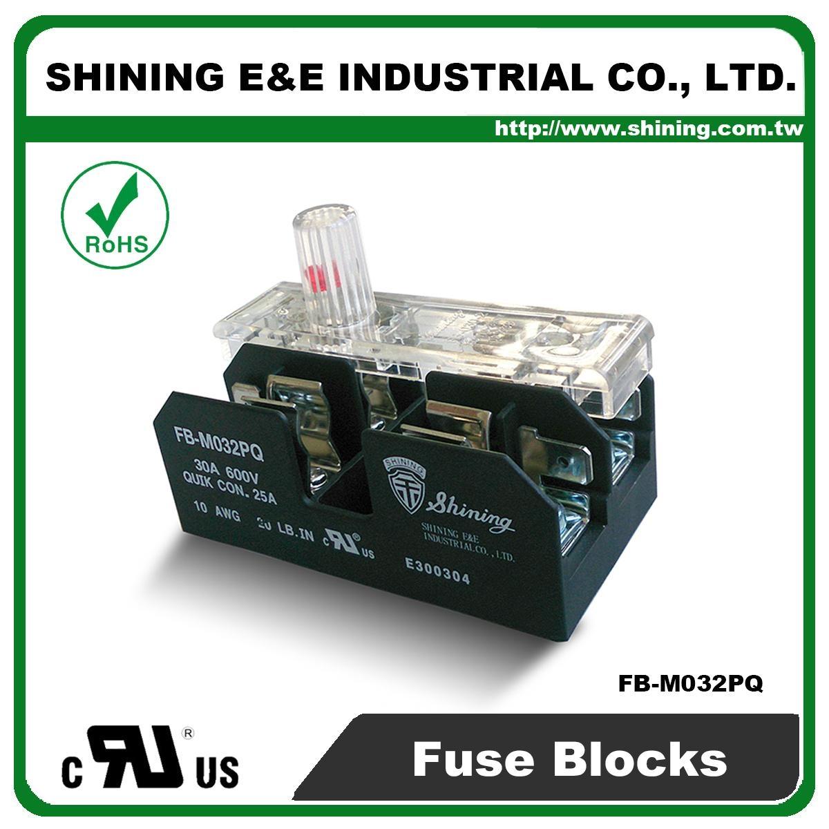 Fb M032pq 600v 30amp 2 Way Ul 10x38 Ceramic Midget Fuse