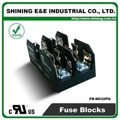FB-M032PQ  600V 30Amp 2 Way UL 10x38 Ceramic Midget Fuse Block