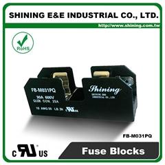 FB-M031PQ 600V 30Amp 1 Way UL 10x38 Ceramic Midget Fuse Block