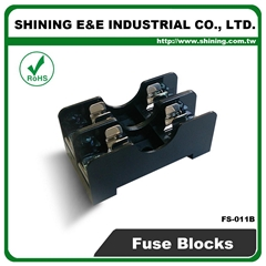 FS-012B DIN Rail Mounted 600V 10A 6x30 Glass Ferrule Fuse Base