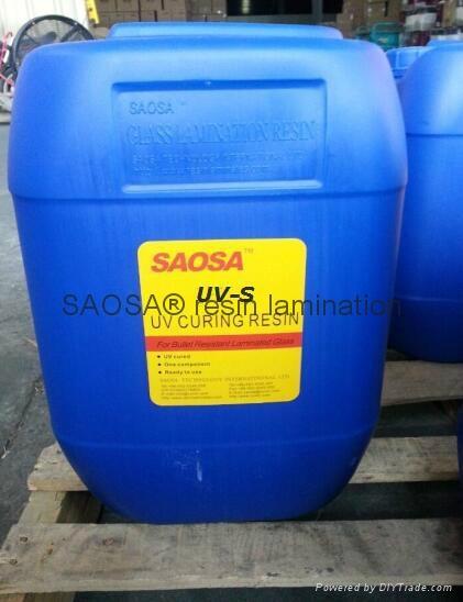 SAOSA UV-S resin lamination polyurethane liquid resin UV curing reisn