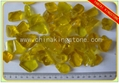 Transparent yellow frosted glass chips