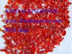 红色玻璃砂