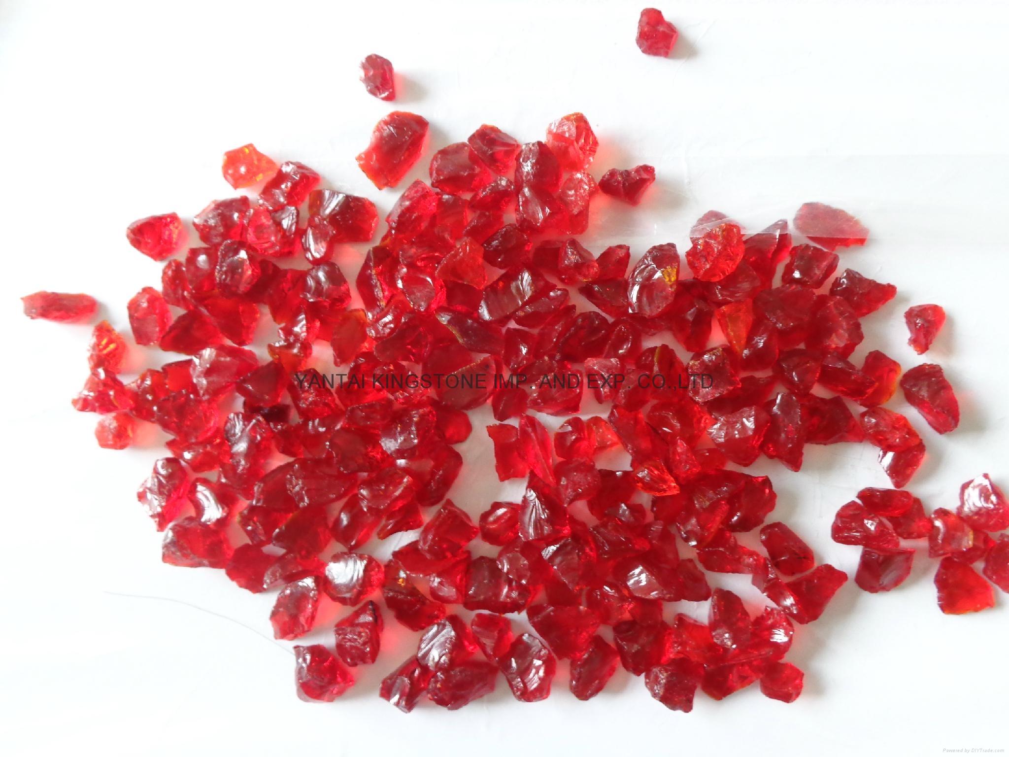紅色玻璃砂 3