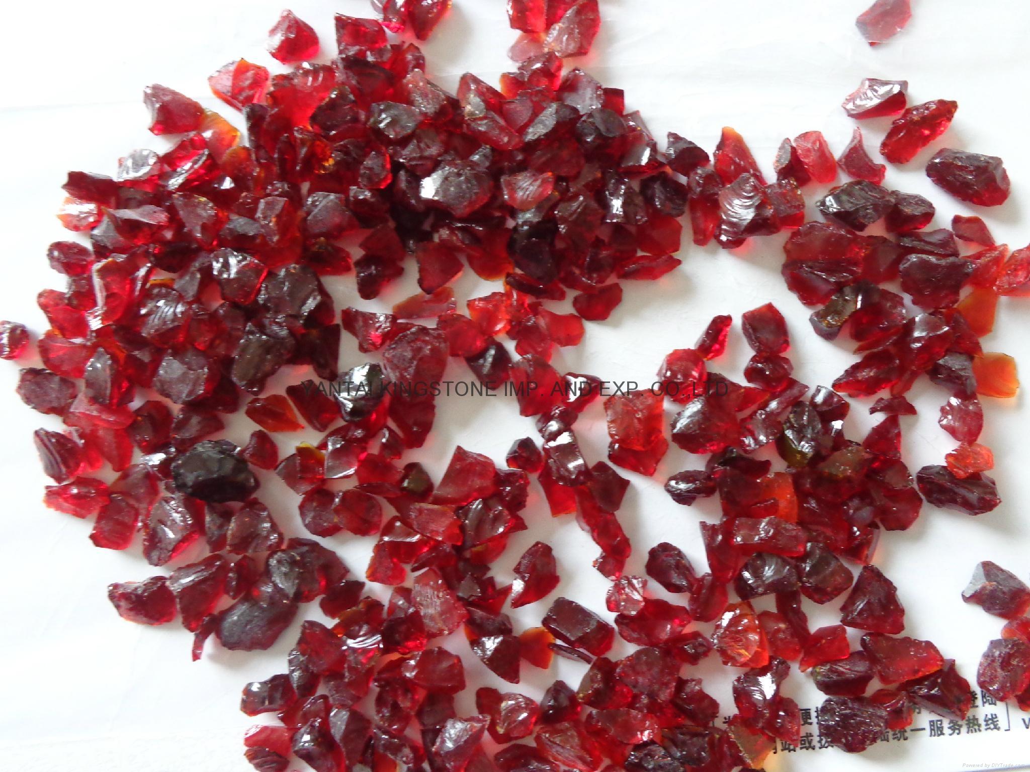 紅色玻璃砂 5
