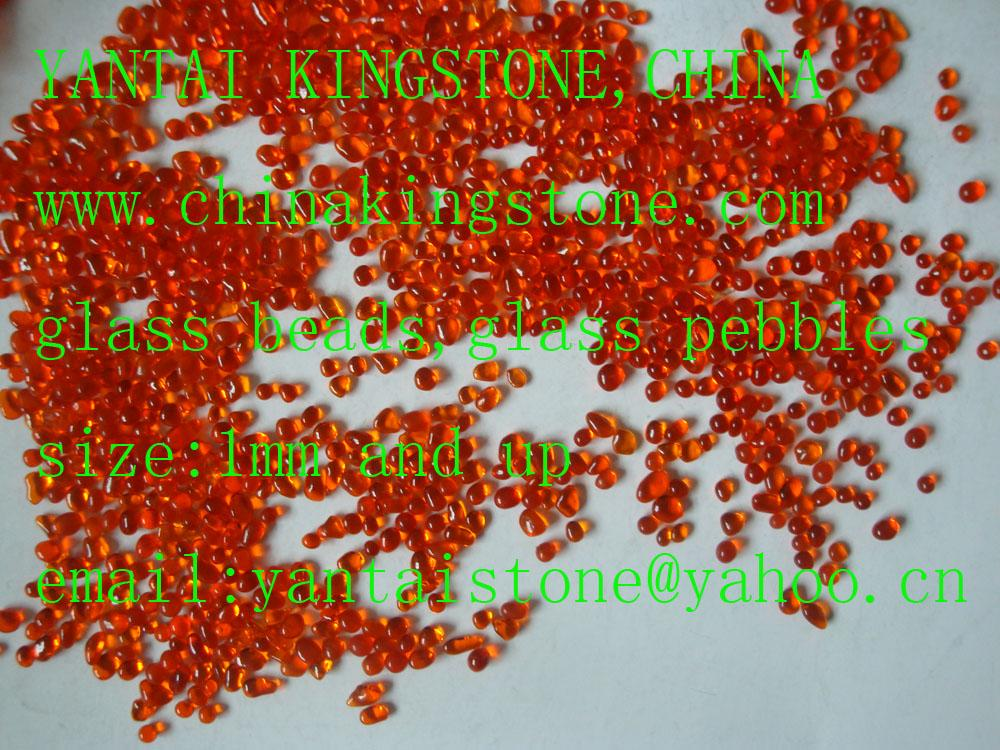 Glass Pebbles for wall coating or walking road 10