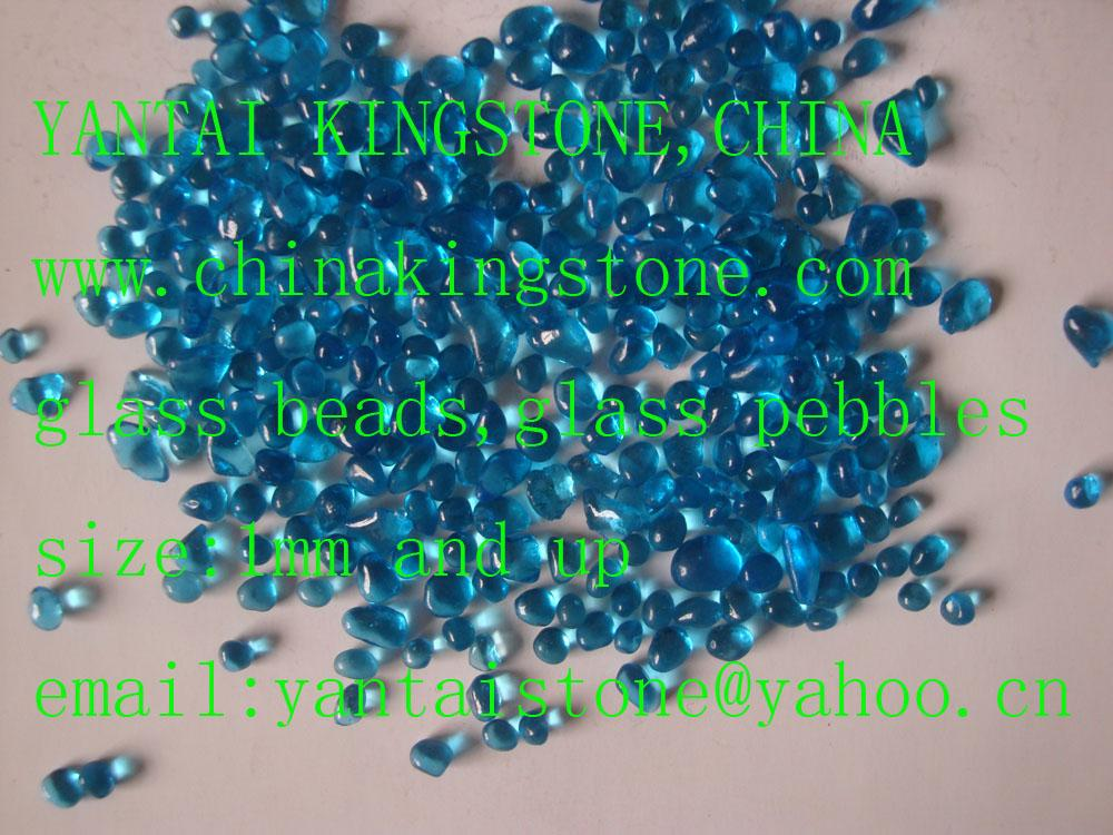 Glass Pebbles for wall coating or walking road 11