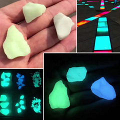 glowing in the dark glass chips