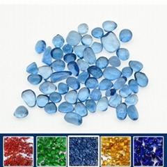 浅蓝色玻璃珠