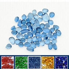 light blue glass beads finishes
