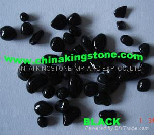 Glass Pebbles for wall coating or walking road 2