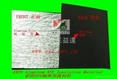 aluminum foil XPE foam heat insulation material