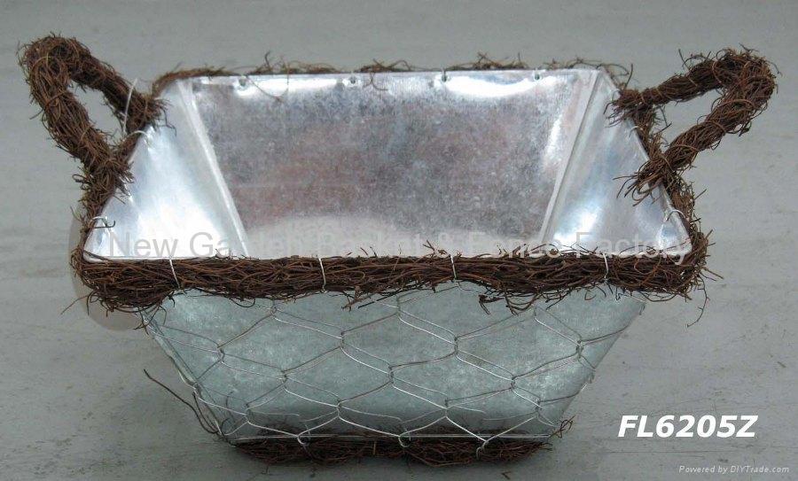 zinc planter,zinc pot,flower pot,flower planter,tin planter,galvanized planter 2